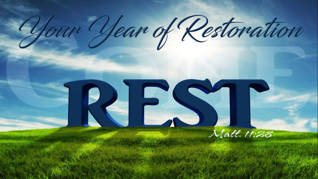 Your Year of Restoration